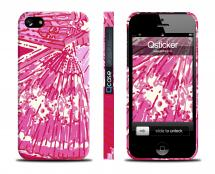 Чехол с ярким принтом  LV для iPhone 5/5S - Bright Pink