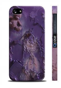 Прикольный чехол с логотипом для iPhone 5/5S - Art Violet