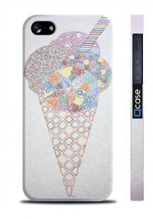 Чехол с 3D печатью для iPhone 5/5S - Art ice-cream