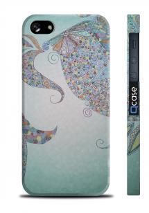 Чехол с оригинальным рисунком для iPhone 5/5S - Art Green