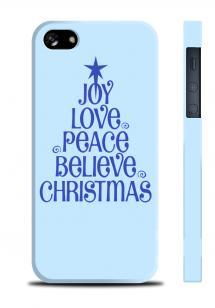 Чехол с елочкой  для iPhone 5/5S - Believe Christmas