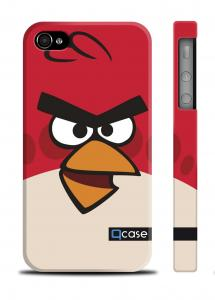Чехол Qcase с принтом iPhone 4/4S - Angry Bird Red