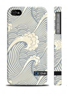 Накладка Qcase Sea waves на iPhone 4/4S