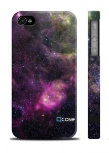 """Оригинальный чехол Qcase с принтом """"Galaktika"""" iPhone 4/4S"""