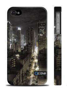 Оригинальный чехол Qcase с фото ночного города iPhone 4/4S