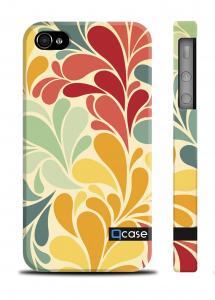 Стильный чехол Qcase с узором iPhone 4/4S