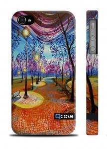 Стильный чехол Qcase с рисунком iPhone 4/4S - Parkway