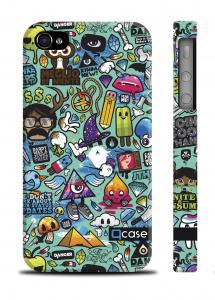 Пластиковый чехол QCase iPhone 4/4S, Киев - Clipart Green