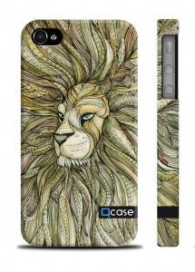 Уникальный пластиковый чехол QCase iPhone 4/4S, Киев - E. Mamaeva (Lion)