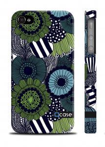 Оригинальный пластиковый чехол QCase iPhone 4/4S, Киев - Marimekko Green
