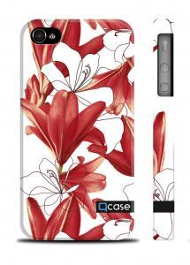 Красивый пластиковый чехол QCase iPhone 4/4S, Киев - marimekko Flowers