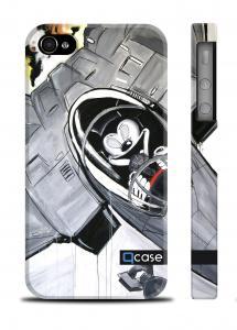 Пластиковый чехол с мультяшным принтом QCase iPhone 4/4S - K.Kazantsev - Mickey