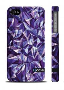 Пластиковый чехол с дизайнерским принтом QCase iPhone 4/4S - E.Mamaeva (Violet D