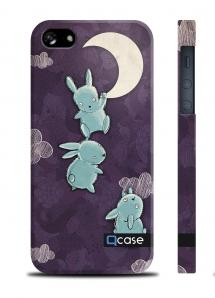 Чехол QCase с зайцами для iPhone 5/5S - E.Mamaeva (MOON)