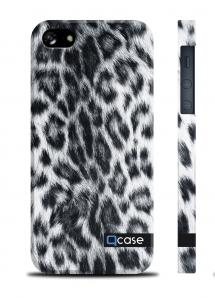 "Чехол QCase ""шкура леопарда"" на iPhone 5/5S - Snow Leopard"