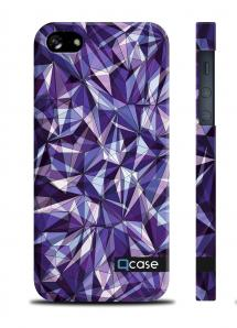 Чехол QCase от E.Mamaeva для iPhone 5/5S - Violet Diamonds