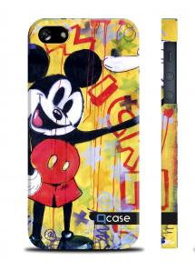 Чехол QCase с дизайном для iPhone 5/5S - K.Kazantsev - Mickey Fuck