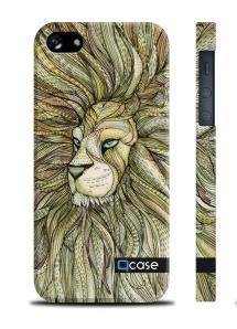 Чехол QCase со львом для iPhone 5/5S - E. Mamaeva (Lion)