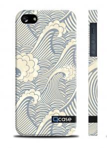 Чехол QCase с рисунком для iPhone 5/5S - Sea waves