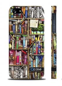 Чехол QCase с принтом для iPhone 5/5S - Books