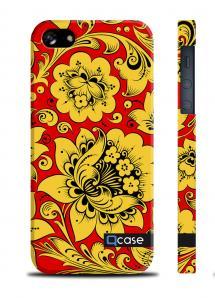Купить чехол QCase с цветочным принтом для iPhone 5/5S - Hohloma Yellow