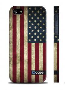Чехол QCase с флагом США для iPhone 5/5S - Flag USA
