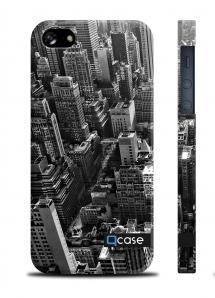 Купить стильную наклвдку QCase на iPhone 5/5S - New York