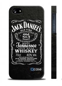 Чехол QCase с виски на iPhone 5/5S - Jack Daniels