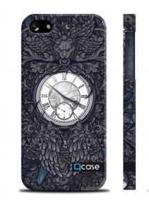 "Чехол QCase с принтом ""Часы""на iPhone 5/5S"