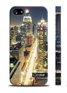 Пластиковый чехол QCase с принтом на iPhone 5/5S - Night City
