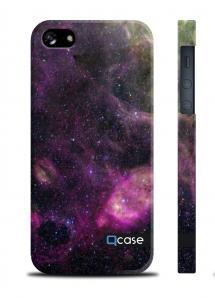 Чехол QCase с космическим принтом на iPhone 5/5S - Galaktika