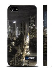 Чехол QCase с 3D принтом на iPhone 5/5S - City