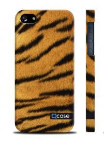 Чехол QCase с животным принтом на iPhone 5/5S - Tiger Skin
