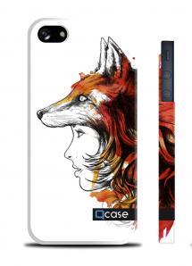 Дизайнерский чехол QCase с принтом на iPhone 5/5S, Киев - Fox