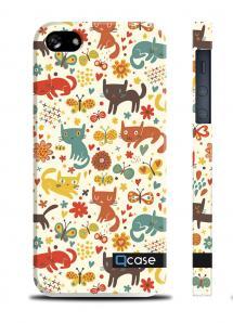 Чехол QCase с котятами для iPhone 5/5S - Cats