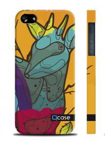 Прикольный чехол QCase с оленем для iPhone 5/5S - Deer