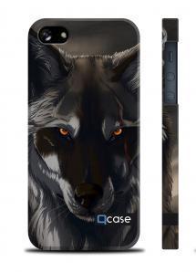 Купить чехол QCase с волком для iPhone 5/5S - Wolf