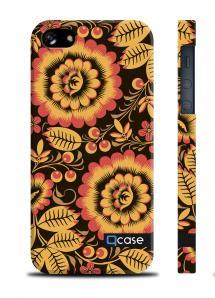 Пластиковый чехол QCase для iPhone 5/5S - Hohloma original