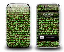 Наклейка на iPhone 3Gs - Louis Vuitton Green