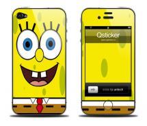 Наклейка для iPhone 4 - Sponge Bob