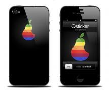 Наклейка на iPhone 4 - Apple Pear