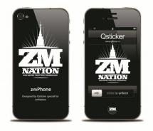 Наклейка на iPhone 4 - ZM Nation Black