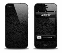Наклейка на iPhone 4 - PatternBlack