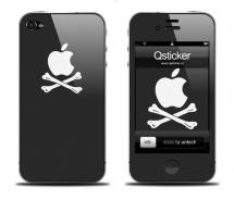 Наклейка на iPhone 4 - Apple Pirat