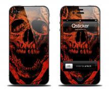 Наклейка на iPhone 4/4S - дизайн Death