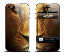 Наклейка на iPhone 4/4S - дизайн Lion Face