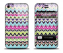 Наклейка на iPhone 4/4S - дизайн Colour Mountain