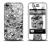 Наклейка на iPhone 4/4S - дизайн Peace