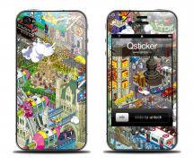Наклейка на iPhone 4/4S - дизайн Pixorama eBoy