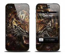 Наклейка на iPhone 4/4S - дизайн Tiger Face